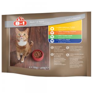 ערכת מזון רטוב (פאוץ') מלא ומאוזן לחתולים בוגרים עם בשר חיות יבשה