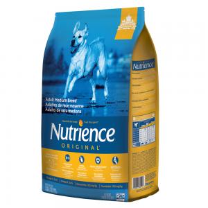 מזון יבש לכלבים בוגרים מגזע בינוני מבשר עוף ואורז חום