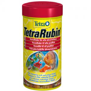 מזון פתיתים המכיל מחזקי צבע טבעיים להדגשת צבעים בדג