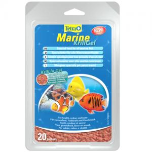 תוסף מזון המכיל סרטני קריל במצב ג'לי לכל סוגי דגי המים המלוחים